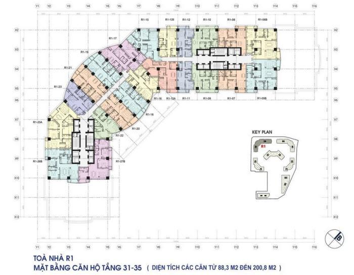 mat bang chung cu R1 Royal City tang 31 - 35