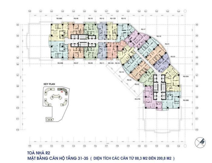 mat bang toa r2 tang 31 - 35