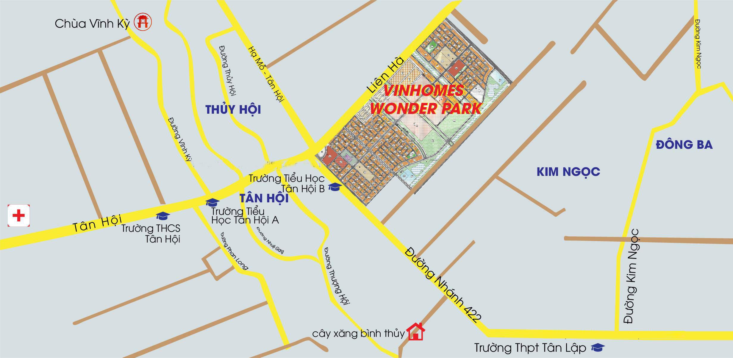 Vị trí Vinhomes Wonder Park